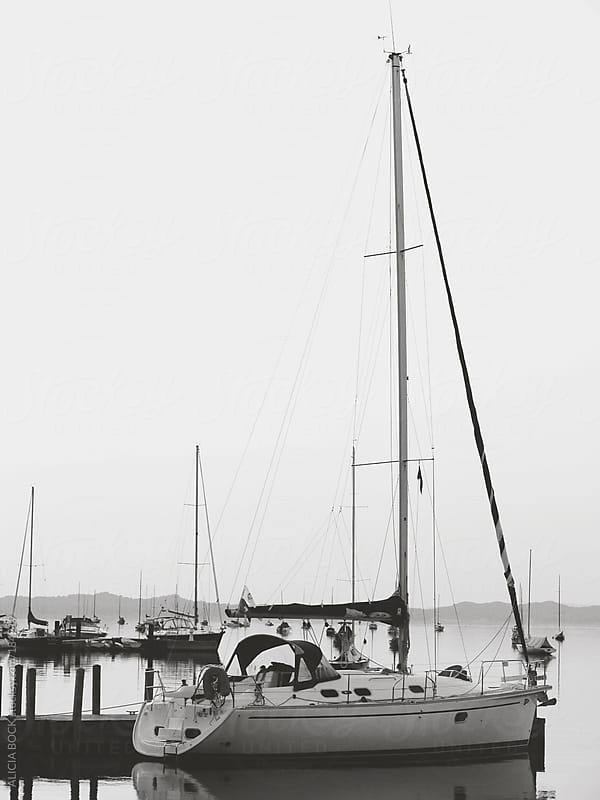 Sailboats In Black and White by ALICIA BOCK for Stocksy United