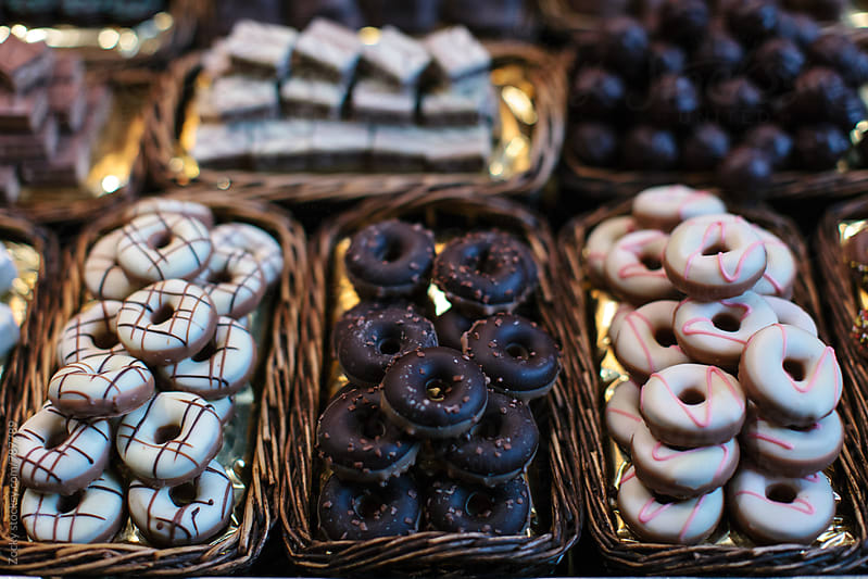 Donuts in the market by Zocky for Stocksy United