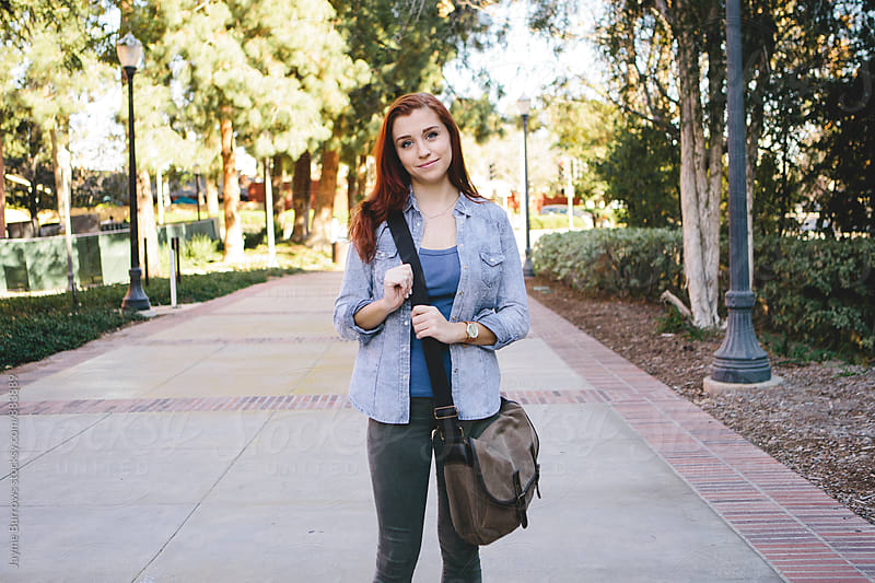 Female Student on Campus by Jayme Burrows for Stocksy United