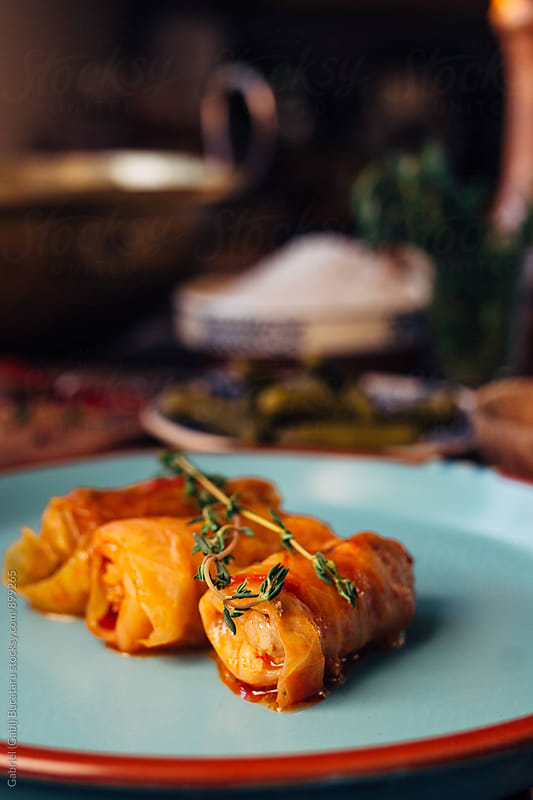 Eastern European style stuffed cabbage rolls by Gabriel (Gabi) Bucataru for Stocksy United