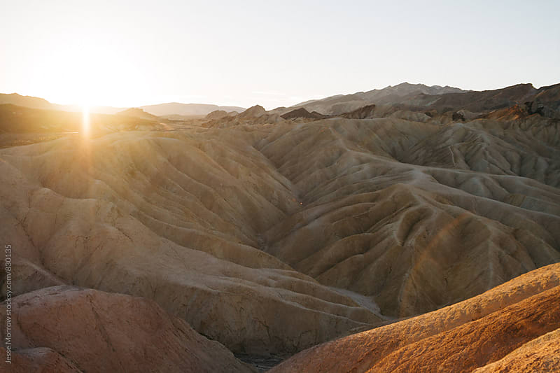 zabriskie point sunrise death valley national park usa by Jesse Morrow for Stocksy United
