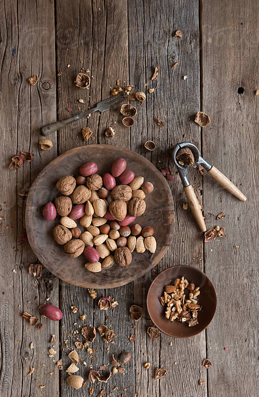 Assorted Raw Nuts - Rich in Omega-3 by Jeff Wasserman for Stocksy United