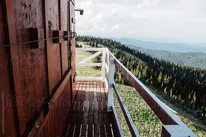 Fire Lookout Tower in Washington by Justin Mullet for Stocksy United