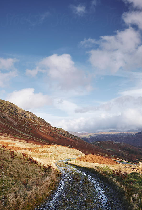 Track on the Honister Pass. Cumbria, UK. by Liam Grant for Stocksy United
