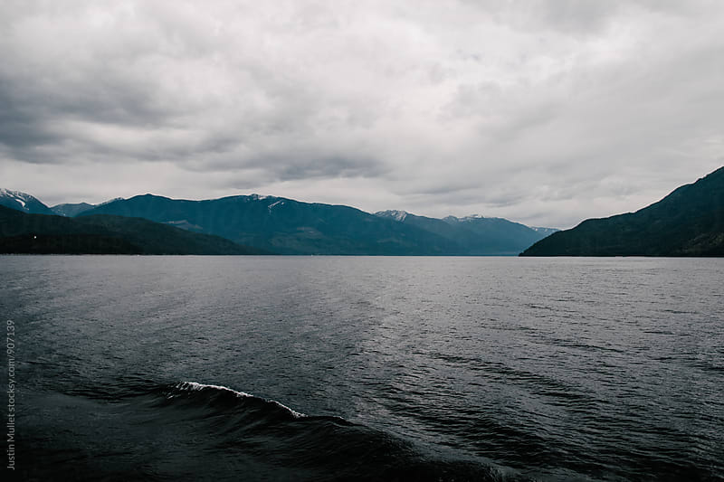 Wave from the wake of a ferry by Justin Mullet for Stocksy United
