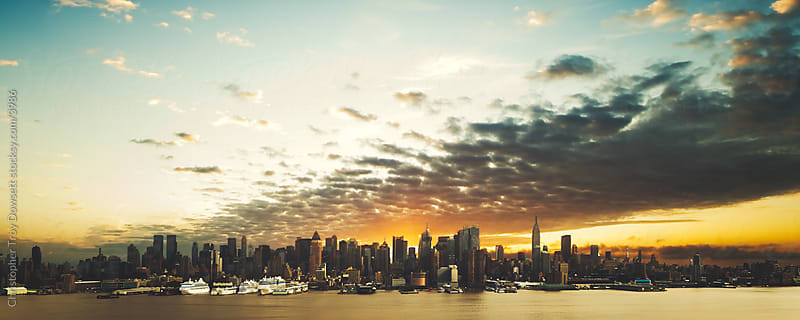 Manhattan skyline by Christopher Troy Dowsett for Stocksy United