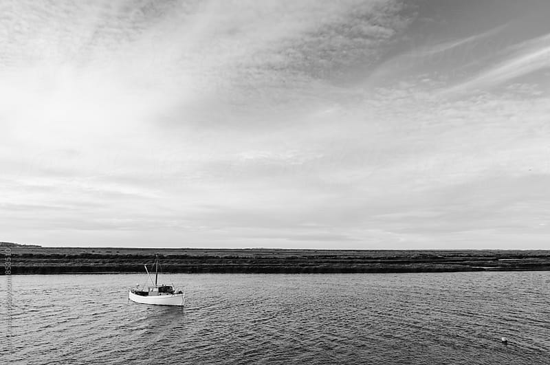 Fishing boat. Burnham Overy Staithe, Norfolk, UK. by Liam Grant for Stocksy United