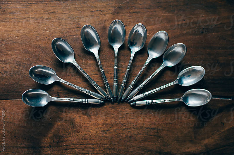 Small silver spoons by Vera Lair for Stocksy United