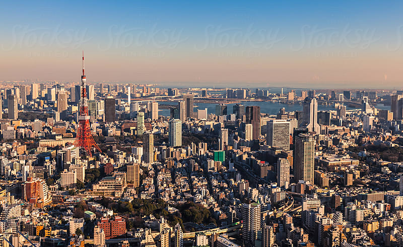 Panorama of Tokyo, Japan by Tom Uhlenberg for Stocksy United