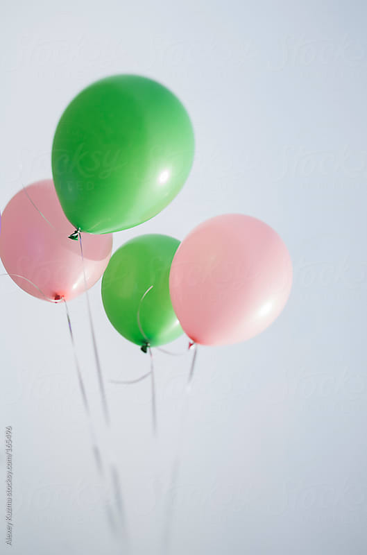 colored pastel balloons by Alexey Kuzma for Stocksy United