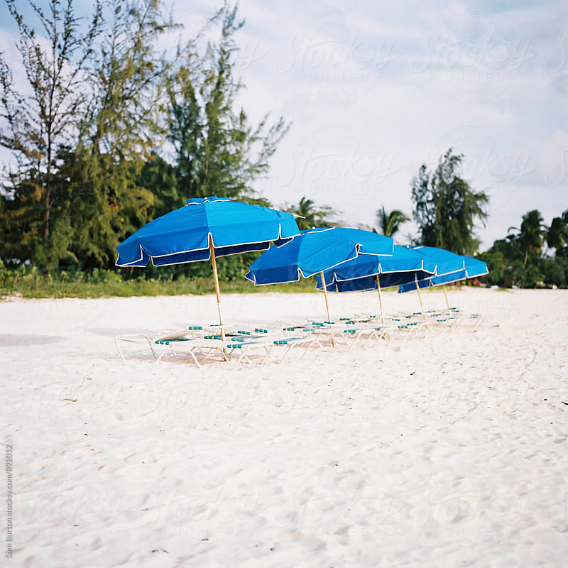 Beach Umbrella's by Sam Burton for Stocksy United