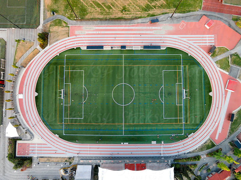 Athletic Park From Above by Ronnie Comeau for Stocksy United