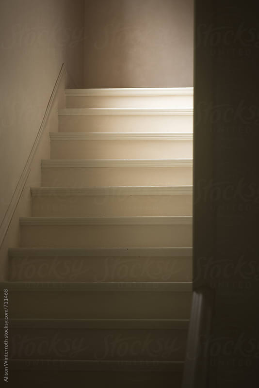 A Quiet Flight Of Stairs With Soft Light by Alison Winterroth for Stocksy United