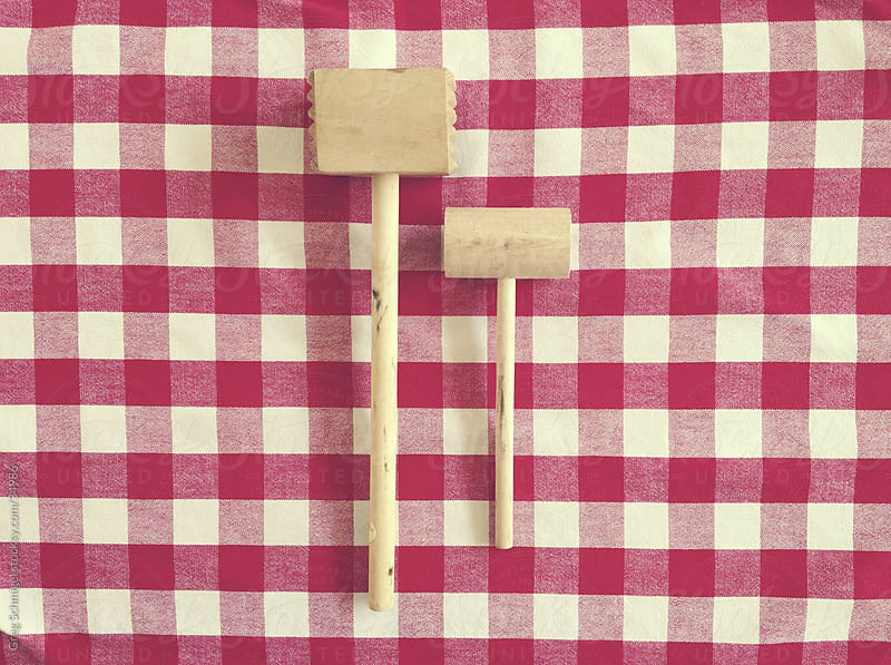 Wooden kitchen mallet  by Greg Schmigel for Stocksy United