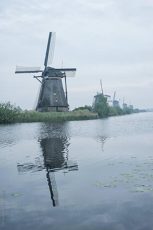 Windmills at Kinderdijk, Netherlands by GIC for Stocksy United