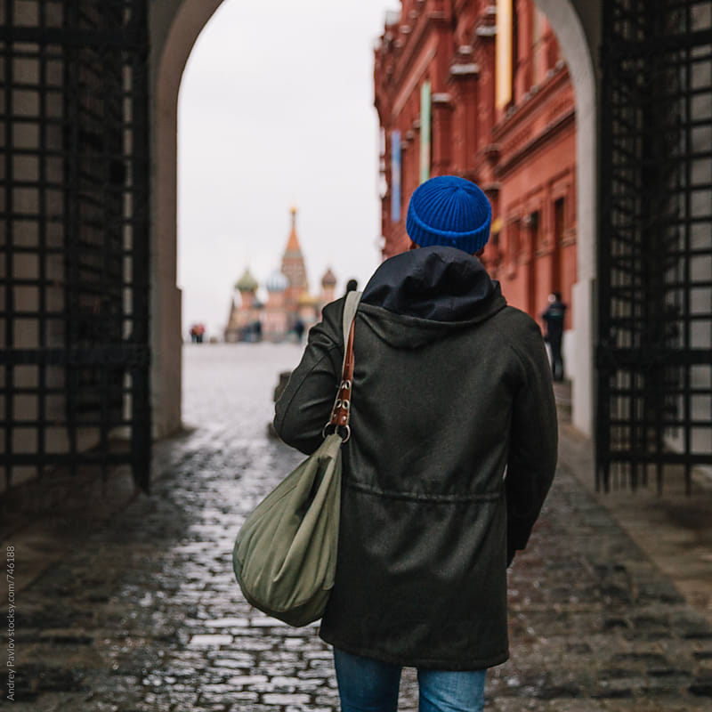 Man approaching to Red Square, Moscow by Andrey Pavlov for Stocksy United