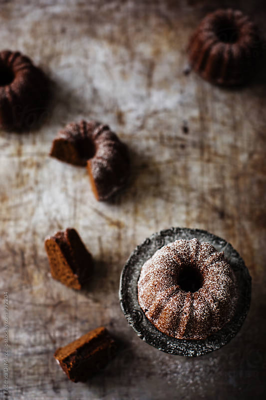 White pepper mini bundt cakes by Federica Di Marcello for Stocksy United