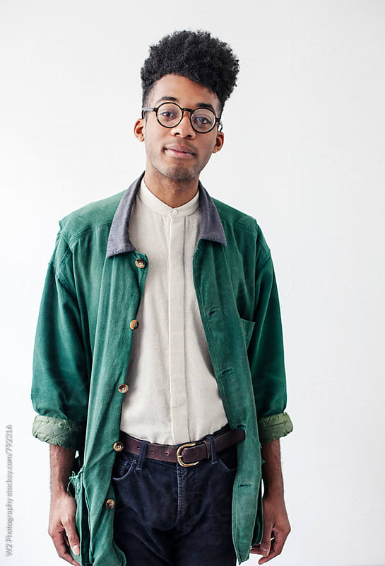 Portrait of stylish man in cool vintage style by W2 Photography for Stocksy United