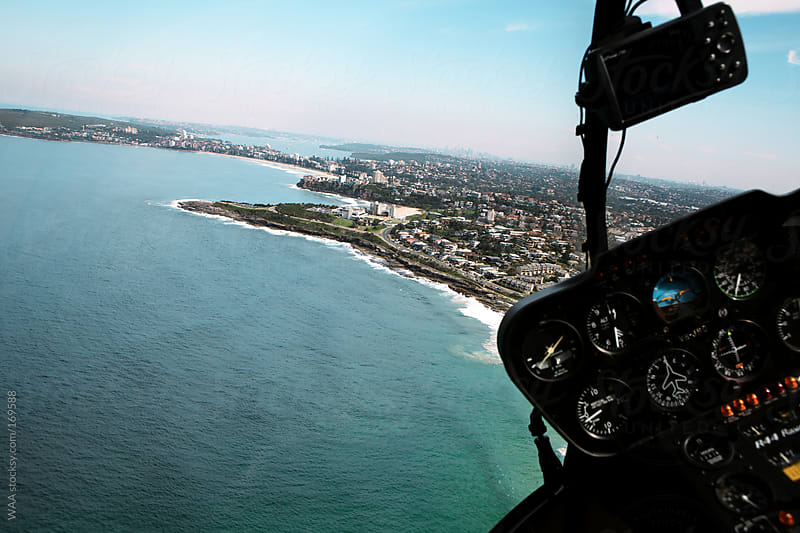 Coastal Helicopter Ride by WAA for Stocksy United