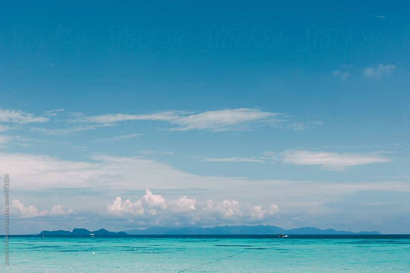 View of Tarutao National Park and the blue tropical waters of Thailand by Jovana Milanko for Stocksy United