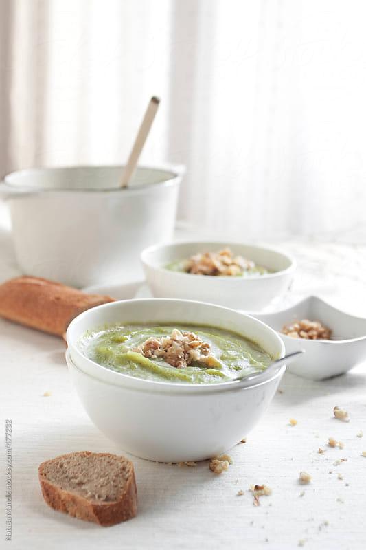 Homemade broccoli puree soup by Nataša Mandić for Stocksy United