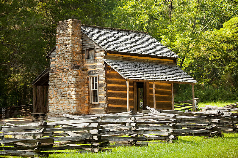 Log Cabin in Cades Cove area of Great Smoky Mountains National Park by David Smart for Stocksy United