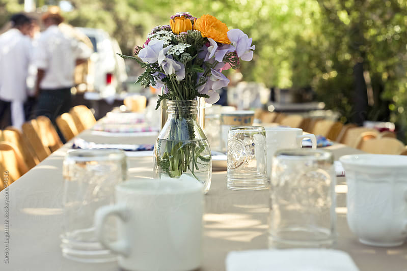 View of a farm to table breakfast by Carolyn Lagattuta for Stocksy United