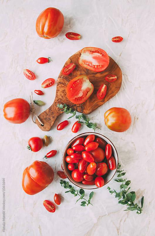 Fresh tomatoes  by Nataša Mandić for Stocksy United