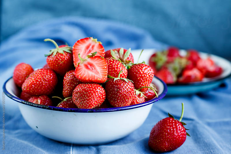 Fresh strawberryes by Babett Lupaneszku for Stocksy United