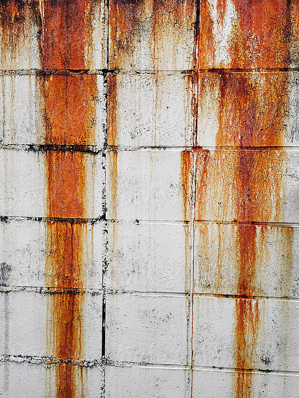 Rust Traces on Brick Wall by Julien L. Balmer for Stocksy United