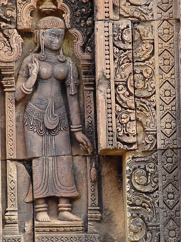 Carvings of Angkor Wat, Siemreap, Khmer Republic. by Gabriel Diaz for Stocksy United