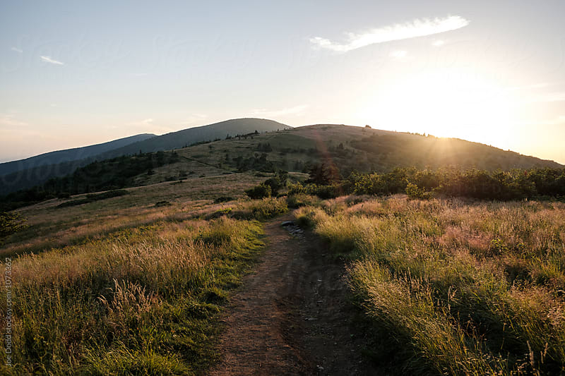 Trail at Sunset by Joe Dodd for Stocksy United