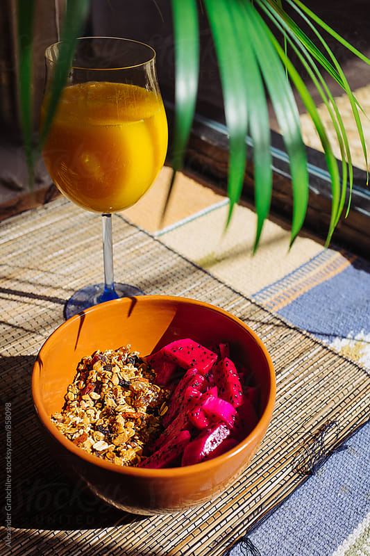 Tropical Morning Breakfast At Home by Alexander Grabchilev for Stocksy United
