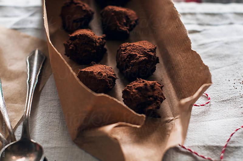 Detail of Delicious Homemade Truffle by Alie Lengyelova for Stocksy United