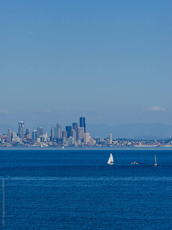 sailling at Elliott Bay by unite images for Stocksy United