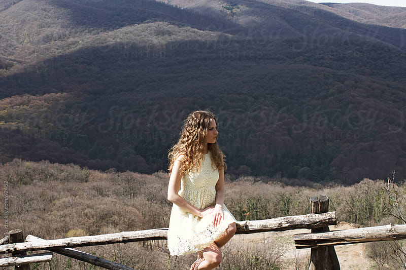 Beautiful girl in nature by Jovana Rikalo for Stocksy United