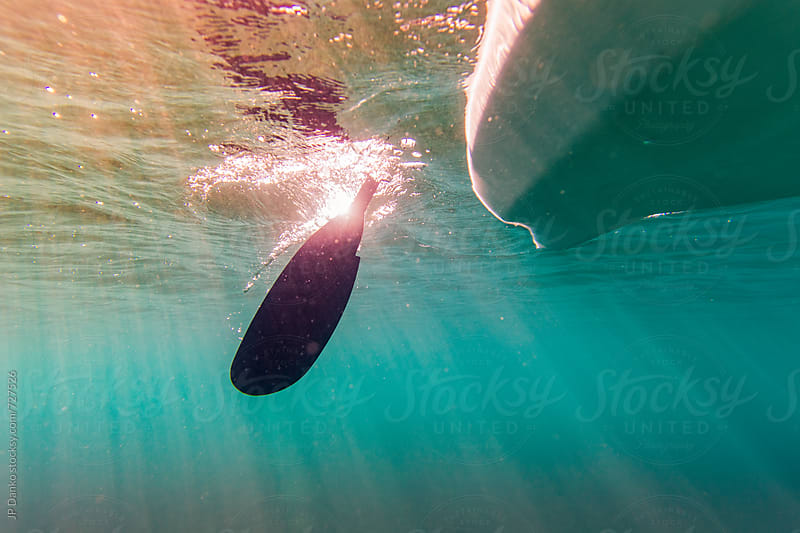 Underwater Photo of Kayak Paddle in Crystal Clear Freshwater Lake at Family Cottage by JP Danko for Stocksy United