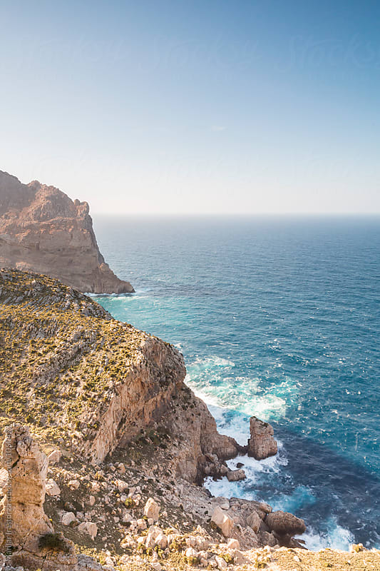 Mallorca coast with sea mist by Marilar Irastorza for Stocksy United