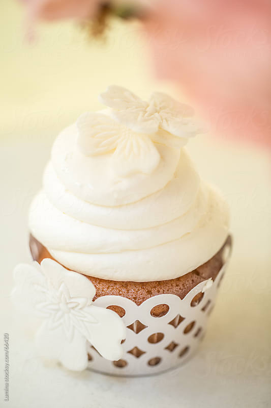 Delicious White Cupcake by Lumina for Stocksy United