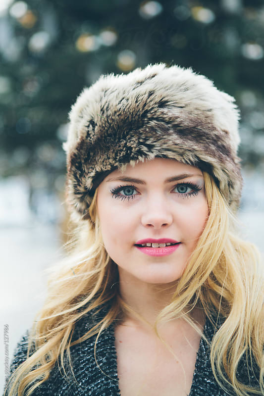 Blonde winter portrait by kkgas for Stocksy United