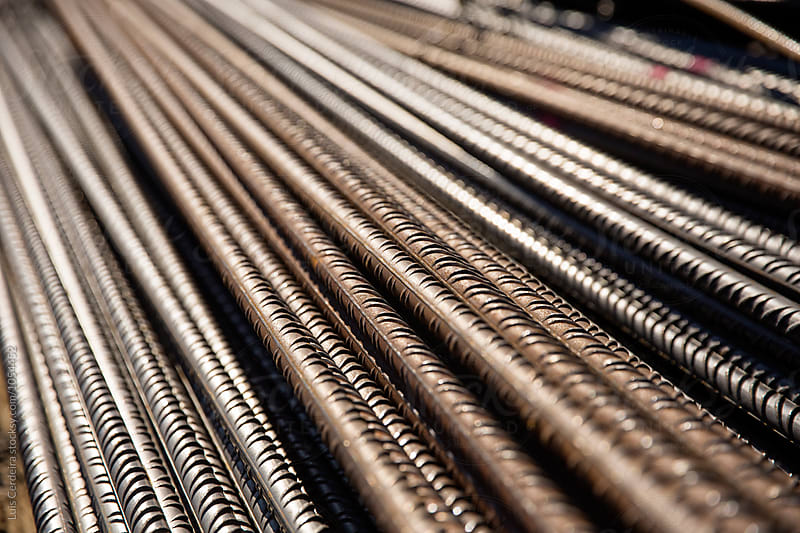Rebars for reinforcement concrete structure by Luis Cerdeira for Stocksy United