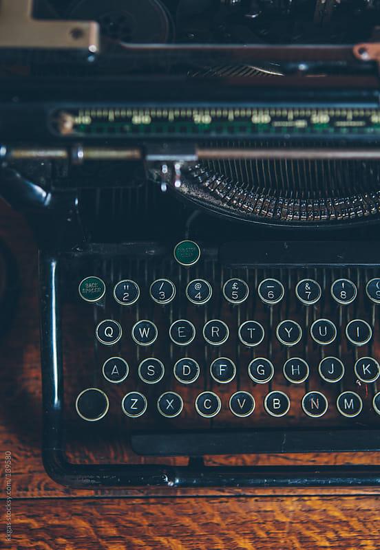 Vintage typewriter by kkgas for Stocksy United