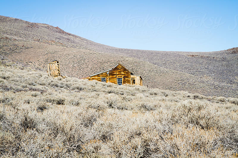 Creepy Ghost Town Home from the Gold Rush by Meg Pinsonneault for Stocksy United