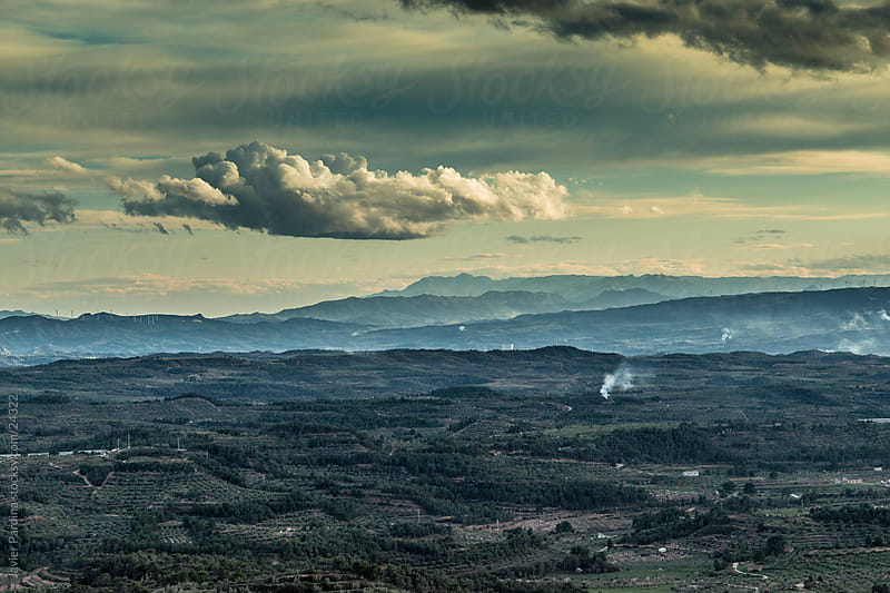Landscape of mountains waiting for the storm by Javier Pardina for Stocksy United