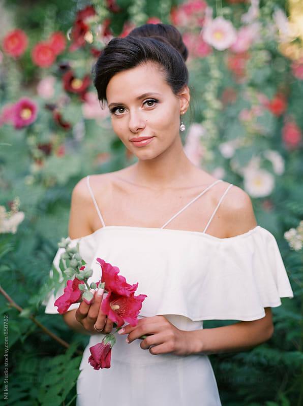 Beautiful Bride Portrait by Milles Studio for Stocksy United
