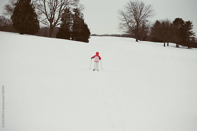 Child Cross Country Skiing by ALICIA BOCK for Stocksy United
