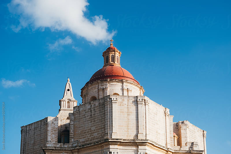 Church in Mellieha by Sam Burton for Stocksy United