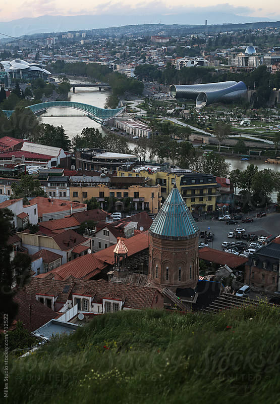 View of Tbilisi by Milles Studio for Stocksy United