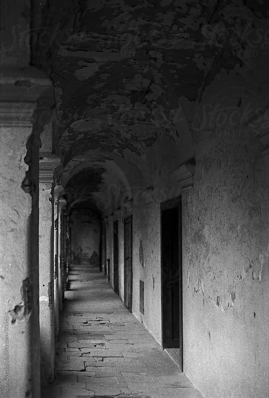 Corridor at old castle by Bor Cvetko for Stocksy United