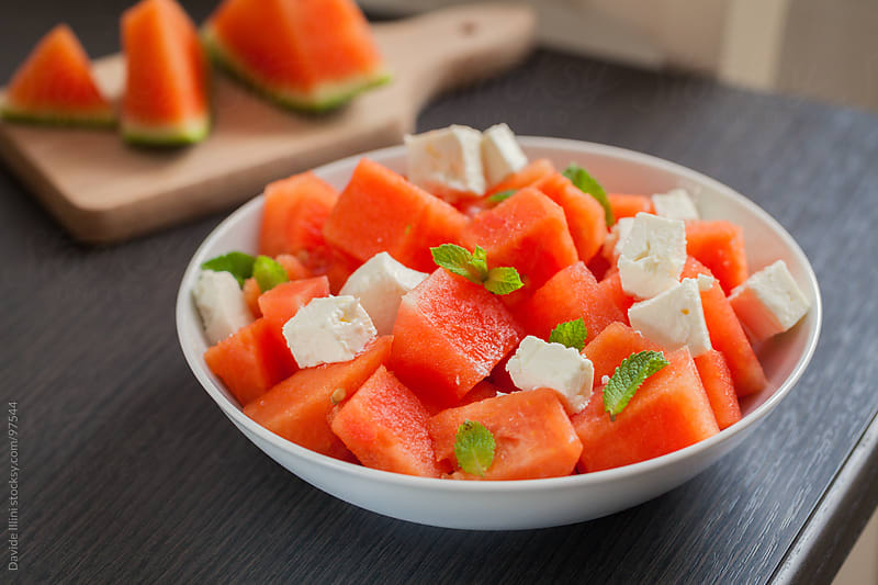 Watermelon Salad by Davide Illini for Stocksy United